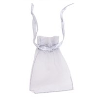 Wholesale 100pcs Grey Organza Jewelry Wedding Gift Pouches Bags for Wedding Party Holiday New Year Gift Packaging mm