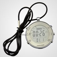 Wholesale Stainless Steel Multi Function Digital Sports Watches Fishing Barometer Thermometer Altimeter Pocket Watch MDM09 order lt no tracking