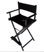 aluminum directors chairs - High quality professional black cosmetic chair director chair aluminum alloy light