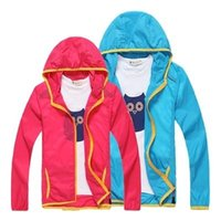 Wholesale Child clothing outdoor sun protection clothing thin breathable male female child trench