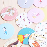 Wholesale 2015 Newest Design Mini Cartoon Makeup Mirror Pocket Portable Metal Mirror small Mirrors For Women