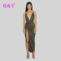 best casual dresses - Best quality deep V neck women bodycon dress hot selling long sleeve Irregular dresses sexy clothing Army Green Khaki black