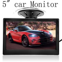 Wholesale 5 quot High Resolution HD Car TFT LCD Monitor Car Electronics Screen ch Video with Car Rearview Cameras Equipment