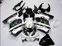 Wholesale 3 gifts Injection Mold ABS Fairings Kits for KAWASAKI Ninja ZX250R ZX R ZX R EX250 Cool black white ELF