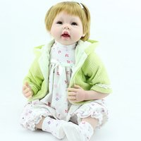 "Cheap NPK Reborn Baby Doll Realistic 22"" Soft Silicone Reborn Baby Girl Doll Pretty Kids Toy"
