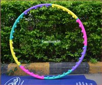 sporting good equipment - Lose Weight Sport Hula Hoop Hula Ring Good Fitness Equipment Body Building Hoop PVC Material Three Kind Joint