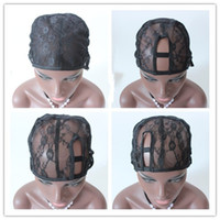 Wholesale Black Brown Jewish GluelessWig Caps For Making WigsSmall Medium Large Black Brown Color With Adjustable Strap Weave Ca