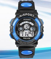 Wholesale Hot Mix Colors HONHX cartoon children multifunction Sports Digital waterproof LED luminous T62 wrist watch with Alarm