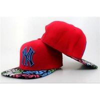 Rojas NY Yankees Snapbacks CAPS baratos sombreros de béisbol 2015 venta caliente Snap Backs Moda Sombreros Descuento Flat casquillos de calidad superior Snap Back Sombreros