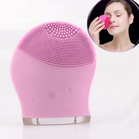 Wholesale 1 Set Waterproof Sonic Massage Portable Ultrasonic Facial Cleaner Electric Face Cleansing Brush Skin Care Spa Beauty Device