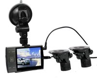 Wholesale S3000a Car DVR Independent Cameras Car Camera Rear View Camera HD quot P Front and Rear View Camera recorder