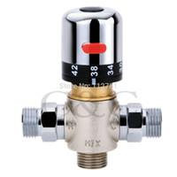 Wholesale One Handle Bath Thermostatic Faucet Valve For Chrome Bathroom Shower Mixer Set HS