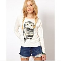 asos coat - Asos women in Europe and America with the money printing Owls hot drilling long sleeved sweater coat tide in women new fall