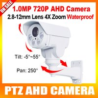 Wholesale 2016 Outdoor Mini MP PTZ AHD Bullet Camera x Zoom mm Lens HD P Night Vision IR M Outdoor Waterproof IR CUT Middle Speed