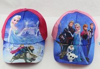 Wholesale Frozen Princess Fashion Hats Elsa Anna Baseball Cap Christmas Hat