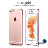 silicone gel - For IPhone S Case Iphone s plus Iphone Electroplating Technology Metal Soft Gel TPU Silicone Case Cover