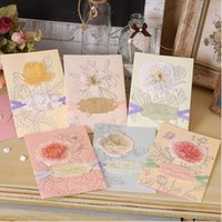 cards - 2016 New Luxury Birthday Cards Creative Greeting Cards Best Wishing Cards Gifts cards Beautiful Flowers Pattern