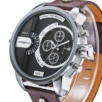 Wholesale 2014 WEIDE Top Brand Oversized Big Dial Men Watches Leather Strap Watches Japan Quartz Movement Fashion Wrist Watches Colors