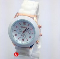 Wholesale Hot Sale Military Wristwatches Fashion New Geneva Watch Authentic Female Color Silicone Watches