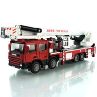 Cheap Free shipping hot selling new fashion Alloy fire engine fire truck ladder 40cm car model toy children gift