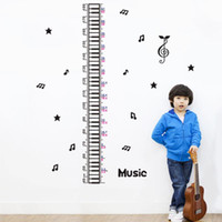 art classroom posters - musical note growth chart wall stickers kids classroom decor diy home decals height measuring nursery art print poster