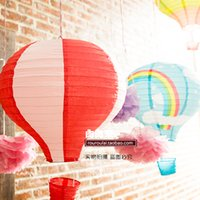 Cheap 7Pcs 30cm multicolor Paper Chinese wishing lantern hot air balloon Fire Sky lantern for Birthday Wedding Party color