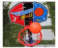 Cheap Backboard Toys Baby Toys Kids Iron and Adjustable Basketball Confirmations Fashion Indoor Sport and Baby Shooting Toys