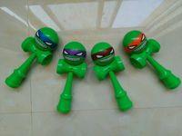 Wholesale 70pcs new arrive cm full pu ninja Kendama Ball toy Skillful Japanese Traditional Educational Toys free DHL