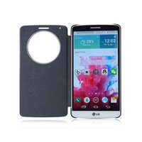 Wholesale Official Smart Covers For LG G4 G3 Quick Circle Case With Circle View Window Newest DHL Free Ship