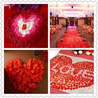 Wholesale 1000Pcs Simulation Silk Flower Wedding Decoration Flower Valentine s Party Rose Petals Welding Party Decoration