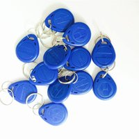 Wholesale 100PCS KHZ EM4100 Chip RFID blue Tag Keychain Card for Access Control Systerm