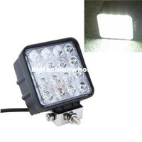 Wholesale 48W LED Car Work Light Fog light K IP67 degree Front Headlight Lamp Bulbs Car Lighting source