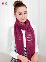 knitting fur scarf - 2015 New arrival womens scarf winter shawl Imitation cashmere knit scarf shawl solid color mesh scarves quot long scarf