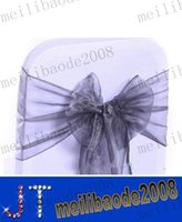 Wholesale Wedding Decorations High Quality Wedding Organza Chair Cover Sashes and Party Banquet Decor Bow MYY11205A