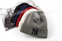 Wholesale Winter Warm Knitted Hat NY Letters Embroidered Beanie Fashion Outdoor Caps Like Skiing Free DHL Factory Direct