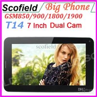 Wholesale quot Android Cell Phone Tablet Big Cell Phone Android Tablet Dual Camera T14 A13 G GSM Android MB RAM GB ROM Tablet PC Q8