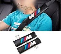 Wholesale 2X Universal Leather Seatbelt Shoulder Pad for BMW E82 E92 M3 M5 M6 X1 X3 X5