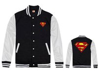 Wholesale Fall Superman Jackets men s hip hop autumn winter high fashion brand jackets cheap full Coats fleece print mans Coats amp Jackets