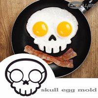 Wholesale 2015 unique design Silicone Rubber egg mould Non stick Fried Frying Pancake Mold Rings Cooking Skull Egg mold kitchen tool