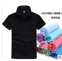 t shirts manufacturer - Manufacturers custom lapel cotton T shirt solid color cotton short sleeved Polo shirt large size T shirt s xxxl