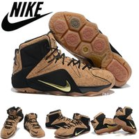 cavalier - Nike Lebron XII Kings Cork QS EXT Men Basketball Shoes Cavaliers James Cork Natural Black Metallic Gold LJ12 Mens Sneakers