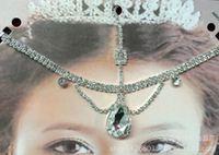 Wholesale Latin Headdress - Wedding bridal headdress bridal eyebrows chain Accessories Hair charm Accessories Belly dance Latin dance TS 37