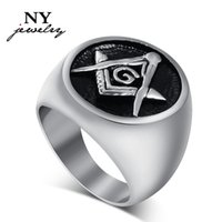 masonic - Masonic rings stainless steel jewelry for men big ring high quality usa size to