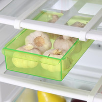 beverage fridge - Slide Kitchen Fridge Freezer Space Saver Organizer Refrigerator Storage Rack Shelf Holder Drawer