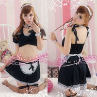 Cheap w1022 SY126 sexy lingerie hot france style maid outfit dress catsuit sexy underwear women latex dress sexy sm cosplay costume