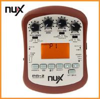 Brown NUX PA-2 Efecto de guitarra acústica Multifuncional Accesorios de piezas de guitarra portátiles 18 Tipos de preset Dos modos de sintonización