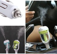 nebulizer ultrasonic - 2016 New Mini Car Air Humidifiers Essential Oil Aroma Diffuser Wave Air Filter Mist Nebulizer Air freshener