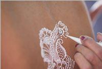 Wholesale Tattoo Body Art Temporary Tattoos White henna Cones tatoo tube indian temporary tattoo For Bridal Decor body art