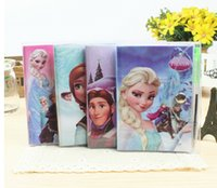 Wholesale Retail Frozen Book Notebook with a Pen Student Diary Frozen Elsa Anna Book Student Notepad CM pages