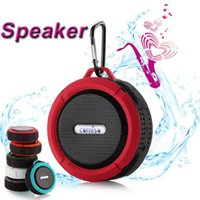 suction hook - IPX7 Waterproof Speaker C6 Bluetooth Mini Speakers Hook Suction Cup Optional Wireless Microphone Hands free for Cellphone Sports Super Base